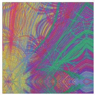 Feathery Rainbow Abstract Design Fabric