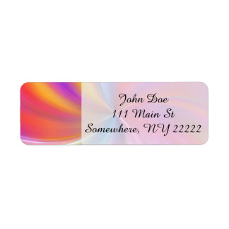 Feathery Rainbow Spiral Return Address Label