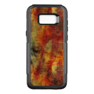 Feathery Reds and Yellows Watercolor Design OtterBox Commuter Samsung Galaxy S8+ Case