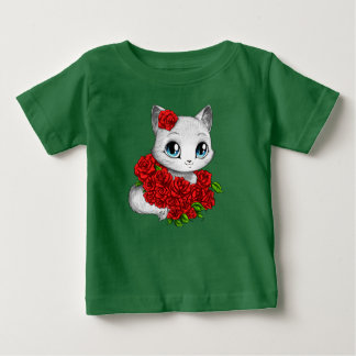 Featured Designer: Cute Rose Cat Baby's Green Tee