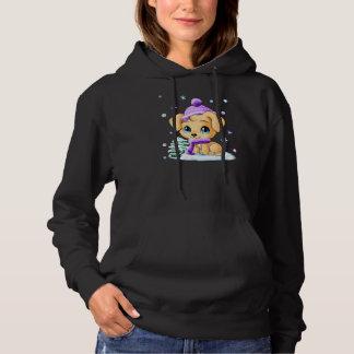 Featured Zazzle Designer: Winter Dog Womens Hoodie