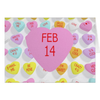 feb 14 on big heart for a card