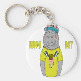 February 15th - Hippo Day - Appreciation Day Basic Round Button Keychain