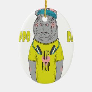 February 15th - Hippo Day - Appreciation Day Ceramic Ornament