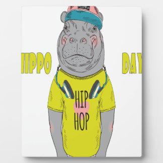 February 15th - Hippo Day - Appreciation Day Plaque