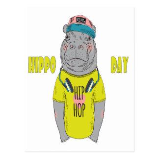 February 15th - Hippo Day - Appreciation Day Postcard