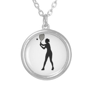 February 23rd - Play Tennis Day - Appreciation Day Silver Plated Necklace