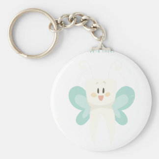 February 28th - Tooth Fairy Day - Appreciation Day Basic Round Button Keychain