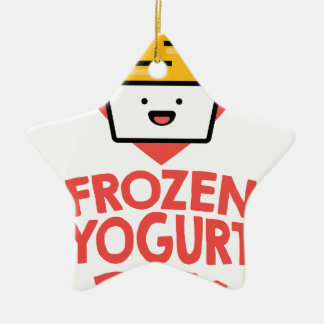 February 6th - Frozen Yogurt Day Ceramic Ornament