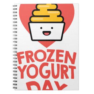 February 6th - Frozen Yogurt Day Notebooks