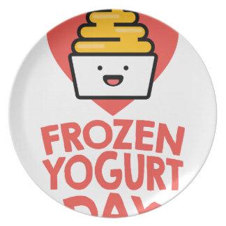 February 6th - Frozen Yogurt Day Plate
