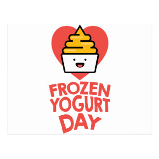 February 6th - Frozen Yogurt Day Postcard