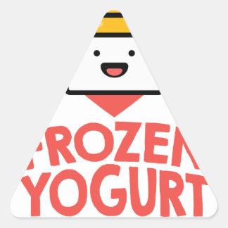 February 6th - Frozen Yogurt Day Triangle Sticker