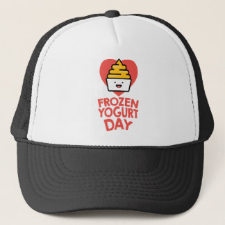 February 6th - Frozen Yogurt Day Trucker Hat