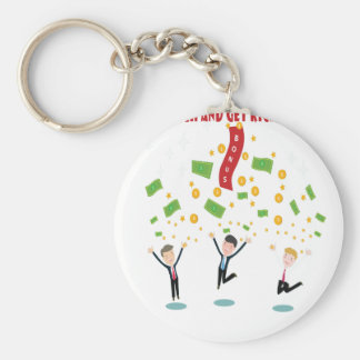 February 8th - Laugh And Get Rich Day Keychain