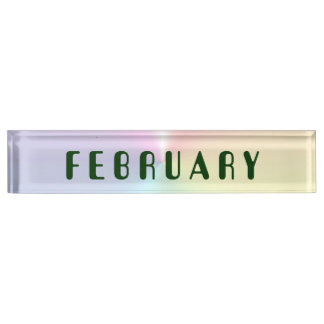 February Amelia Shimmer Desk Nameplate by Janz