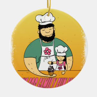 February - Bake For Family Fun Month Ceramic Ornament