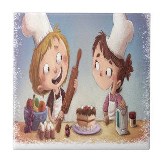 February - Bake For Family Fun Month Ceramic Tiles