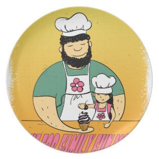 February - Bake For Family Fun Month Dinner Plate