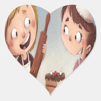 February - Bake For Family Fun Month Heart Sticker
