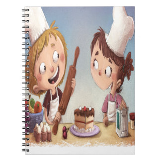 February - Bake For Family Fun Month Spiral Notebook
