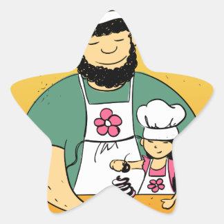 February - Bake For Family Fun Month Star Sticker