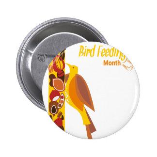 February - Bird-Feeding Month - Appreciation Day 2 Inch Round Button