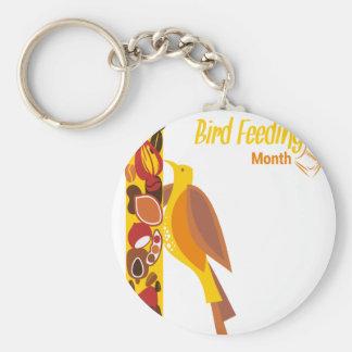February - Bird-Feeding Month - Appreciation Day Basic Round Button Keychain