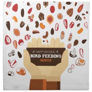 February Bird-Feeding Month - Appreciation Day Cloth Napkin