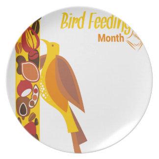 February - Bird-Feeding Month - Appreciation Day Dinner Plate