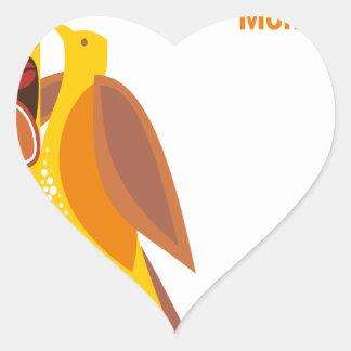 February - Bird-Feeding Month - Appreciation Day Heart Sticker
