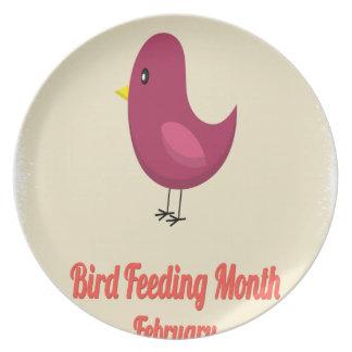 February - Bird-Feeding Month - Appreciation Day Party Plate