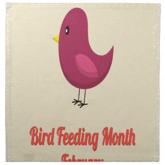 February - Bird-Feeding Month - Appreciation Day Printed Napkin