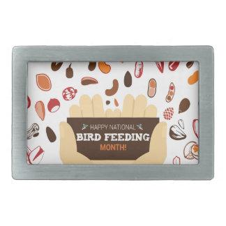 February Bird-Feeding Month - Appreciation Day Rectangular Belt Buckles