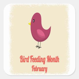 February - Bird-Feeding Month - Appreciation Day Square Sticker