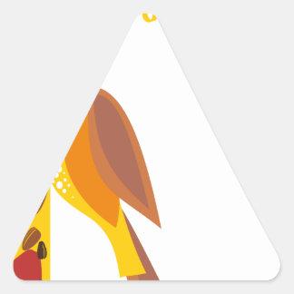February - Bird-Feeding Month - Appreciation Day Triangle Sticker