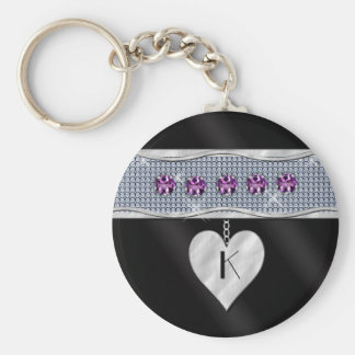 February Birthday Charm Keychain