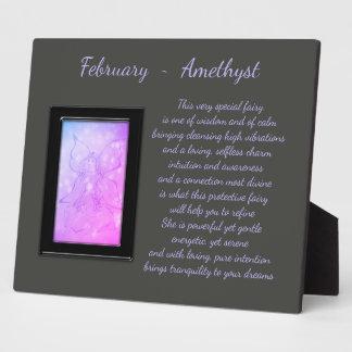 February Birthstone Amethyst Plaque