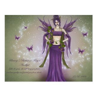 February Birthstone Fairy Postcard