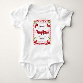 February - Cherry Month - Appreciation Day Baby Bodysuit