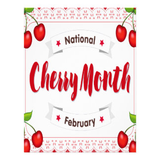 February - Cherry Month - Appreciation Day Letterhead
