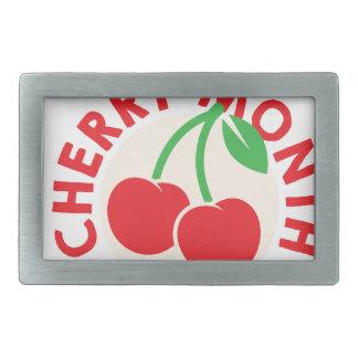 February - Cherry Month - Appreciation Day Rectangular Belt Buckles