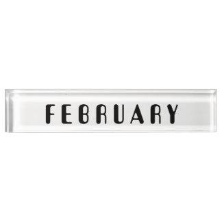 February Desk Nameplate by Janz