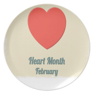February - Heart Month - Appreciation Day Party Plates