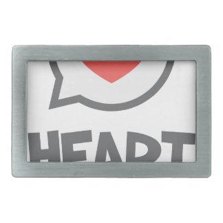 February - Heart Month - Appreciation Day Rectangular Belt Buckles