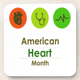 February - Heart Month Coaster
