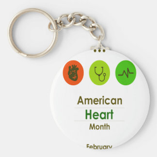 February - Heart Month Keychain