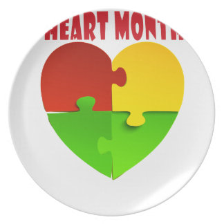 February - Heart Month Plate