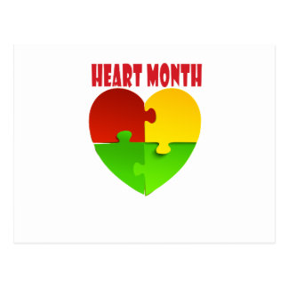 February - Heart Month Postcard