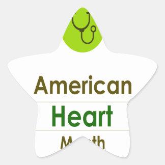 February - Heart Month Star Sticker